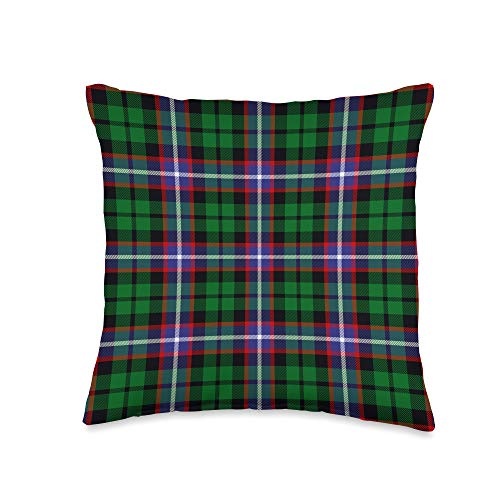 The Celtic Flame Plaid Tartans Russell Tartan Scottish Plaid Throw Pillow, 16x16, Multicolor