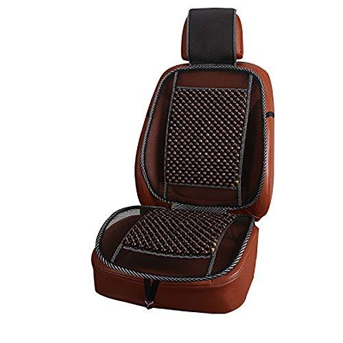 Lecimo Summer Car Seat Pad Perle di Legno Naturale Cuscino per Sedile Cuscino per Massaggio in Maglia, caffè