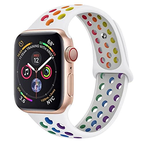 Pride Edition para Apple Watch SE band 40mm 44mm 42mm 38mm Sport Silicon correa de pulsera transpirable iwatch series 6 5 4 3 correa