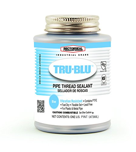 Rectorseal 31431 Pint Brush Top Tru-BluPipe Thread Sealant