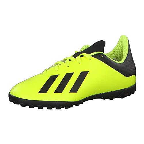 adidas X Tango 18.4 TF J, Botas de fútbol Unisex Adulto, Multicolor (Amasol/Negbás/Amasol 000), 36 EU