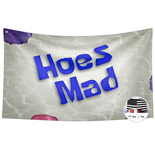 Probsin Hoes Mad Flag,3x5 Feet Banner,Funny Poster UV Resistance Fading & Durable Man Cave Wall Flag with Brass Grommets for College Dorm Room Decor,Outdoor,Parties,Gift,Tailgates