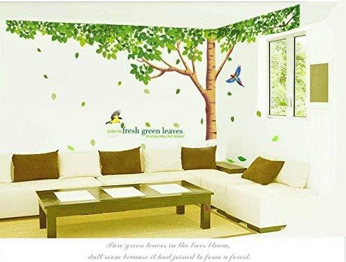 Rainbow Fox Grand Rosa Sakura Kirschblüte Baum Wandtattoo Sticker PVC abnehmbar Wall Decal für die Mädchen und Jungen-Baumschule XY1098