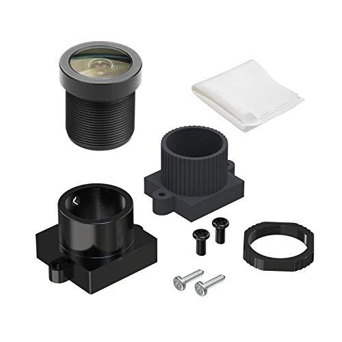 "Arducam Wide Angle M12 Lens, 1/4"" 1.8mm Focal Length Lens with Lens Holder for Arduino and Raspberry Pi Camera, CCTV Security Camera"