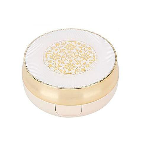 1 x 15 ml / 15 g nachfüllbare runde Luftkissen-Box Make-up-Tasche mit Spiegelpuderquaste und Schwamm BB CC Creme-Spender für Flüssigkeitsfundation, Kosmetik-Behälter.