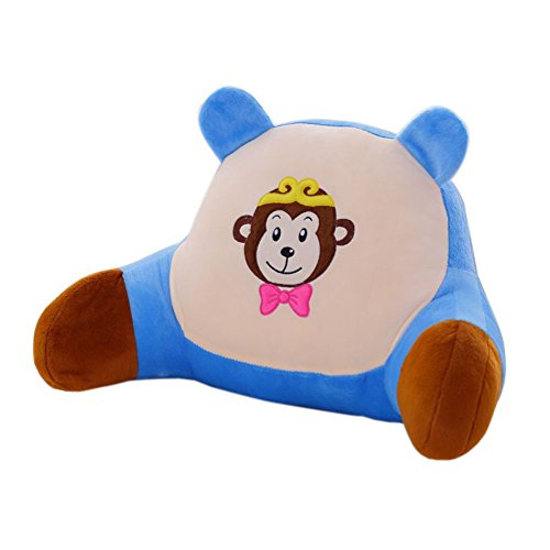 Mlotus Kids Bedrest Pillow Monkey - Best Bed Rest Pillows with Arms for Reading in Bed