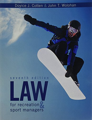 Compare Textbook Prices for Law for Recreation and Sport Managers 7 Edition ISBN 9781524902681 by Doyice J Cotten,John Wolohan