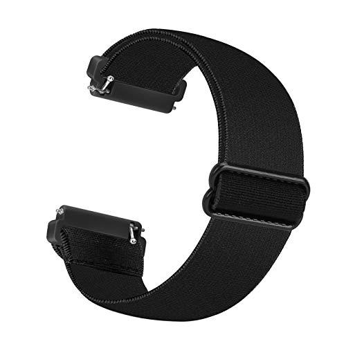 Cinturino di ricambio elastico Cuteeze compatibile con cinturino Fitbit Versa / cinturino Fitbit Versa 2, cinghie di ricambio in nylon morbido per Fitbit Versa 2 / Versa / Versa Lite (nero)