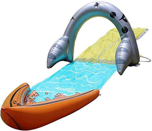 Césped Diapositivas de agua - toboganes for niños, diapositivas jardín trasero aerosol de agua de riego for la muñeca muchachas de los muchachos de agua al aire libre Diversión ( Color : 480*70cm )