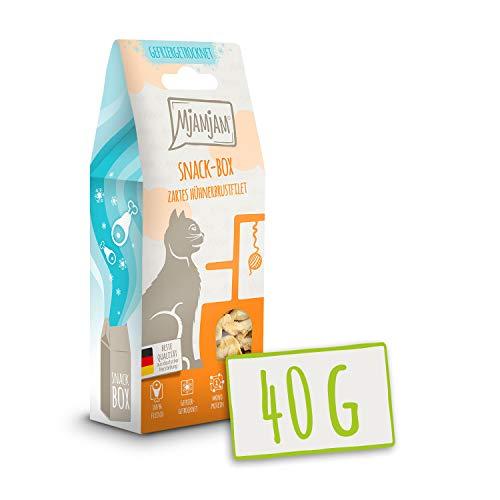 MjAMjAM - Premium Snackbox für Katzen - Zartes Hühnerbrustfilet, 1er Pack (1 x 40 g)