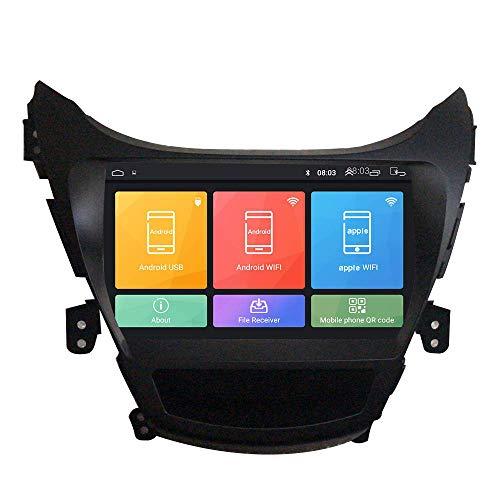 JIBO por Hyundai Elantra MD 2009-2013 Android 10 GPS Navegación Cabeza Unidad IPS 2.5D Toque Pantalla Coche Estéreo Multimedia Jugador WiFi SWC Teléfono Controlar Vídeo Receptor