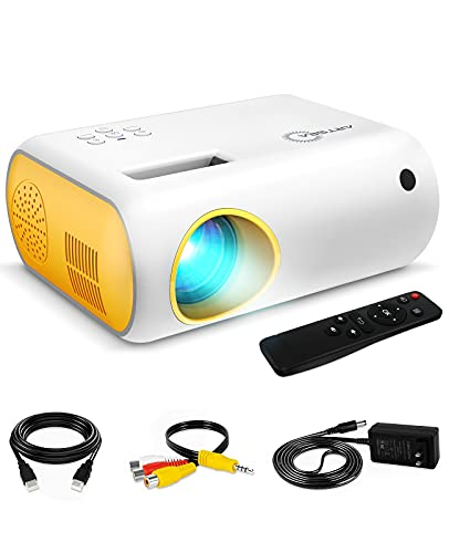 Mini Projector, ARTSEA 1080P Supported 4500L Portable Projector for Outdoor Movie, LED Pico Video...