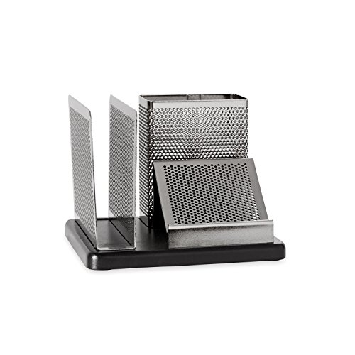 Rolodex Punched Metal and Wood Desk Organizer