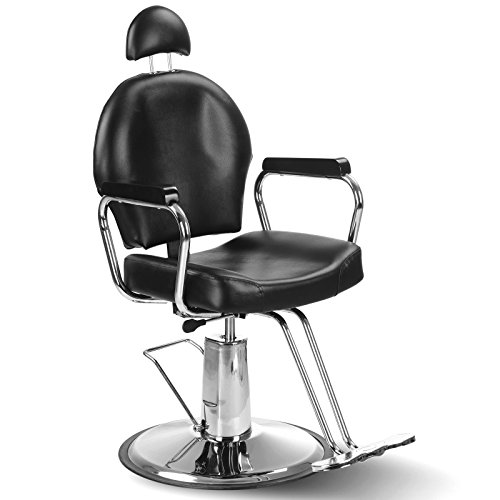 Bellavie Hydraulic Barber Chair All Purpose Salon Spa Styling Beauty Swivel Grooming Equipment, Black