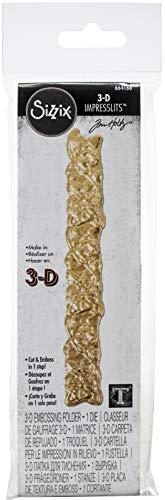 Sizzix Impresslits Cartella 3-D per le Impressioni in Rilievo, Traliccio
