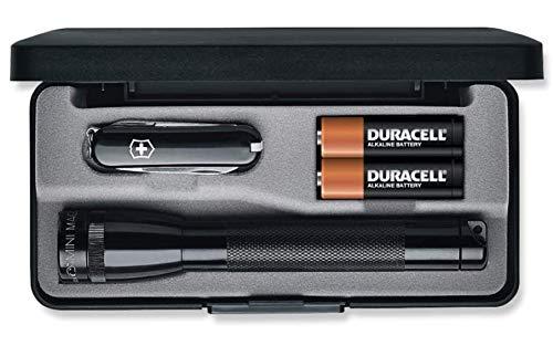 Maglite Mini Incandescent 2-Cell AA Flashlight in Presentation Box with Classic Knife, Black