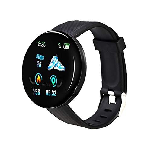 Dafengchui Presión Inteligente Reloj de los Hombres de Las Mujeres D18 Bluetooth Sangre SmartWatch Deporte Rastreador podómetro Inteligente 116 Relojes Plus for Android iOS A2 (Color : D13)