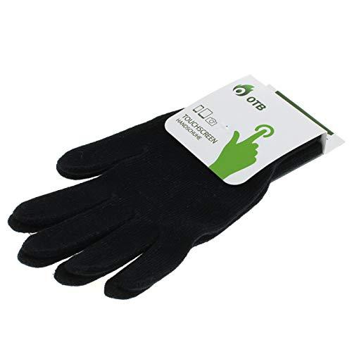 OTB - Guantes para Pantallas táctiles capacitivas, Color Negro