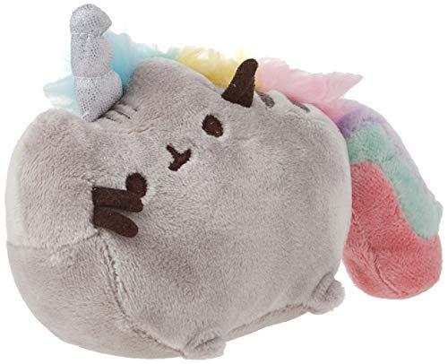 """GUND Pusheenicorn Pusheen Unicorn Cat Plush Stuffed Animal Backpack Clip, Gray, 4.5"""""""