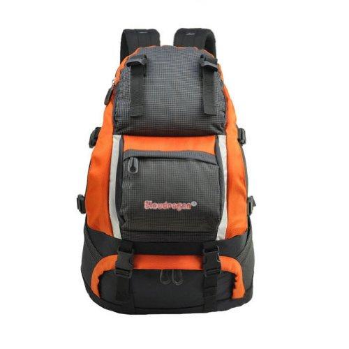 Escalade/Camping/Ski Sac à dos pour adultes de grande capacité,Orange et Gris