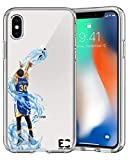 Epic Cases iPhone6/6S iPhone 7/iPhone 8 Case Ultra Slim Crystal Clear Basketball Series Soft Transparent TPU Case Cover Apple - Curry Warriors (iPhone 6/6s) (iPhone 7) (iPhone 8)