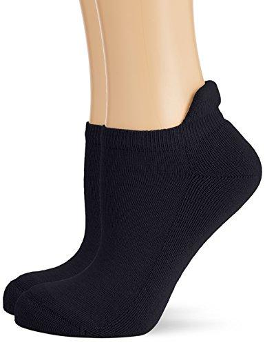 Hudson Damen Sneaker Socken mit Plüschsohle, 025037 Only Plush, 2er Pack, Gr. 39/42, Blau (Marine 0335)