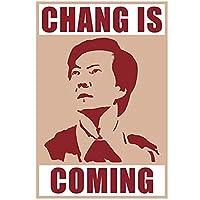 zkpzk Chang Iscomingコミュニティシーズン3米国のテレビドラマヴィンテージレトロポスター装飾キャンバス絵画ホームポスターアート装飾-40X60Cmx1フレームなし