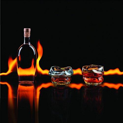 Thumbs Up BBZCWHGLS2 Set de Verres Charred Whisky, Transparent, 18,5 x 9,2 x 7,5 cm