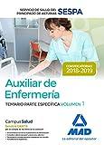 Auxiliar de Enfermería del Servicio de Salud del Principado de Asturias (SESPA). Temario Parte Específica Volumen 1