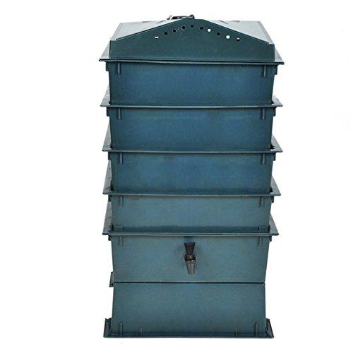 Festnight Compostaggio da Giardino Compostaggio Rifiuti Vermicompostaggio Contenitore Compost