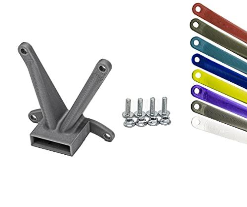 Adaptador VESA 75 x 75 mm para HP 24f, 24fw, 24es, 24er, 27f, 27fw, 27es, 27er – Impresión 3D, incluye juego de tornillos, tecnología Ultra Light (gris)