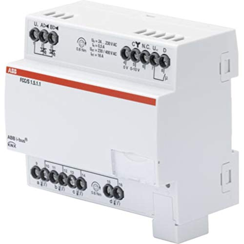 Controlador fan coil 2xPWM, 0-10 V, MDRC, 6,3 x 10,5 x 9 centímetros, color blanco (referencia: FCC/S 1.5.1.1)