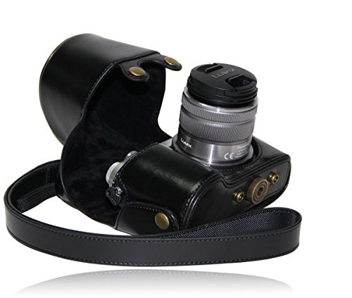 MegaGear MG205 Estuche para cámara fotográfica - Funda (Funda, Panasonic, Lumix DMC-GX7, Negro)