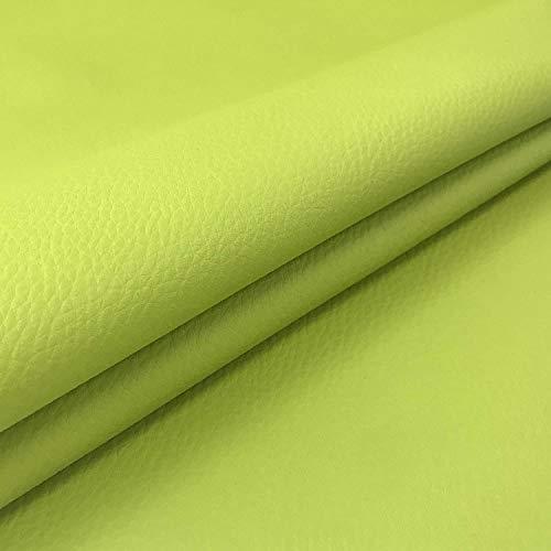 Ecopelle Morbida (3 Pezzi) Finta Pelle per arredo Divani Sedie Tessuto e Tecniche di Imbottitura e Rivestimento 35 x 74 Verde Acido