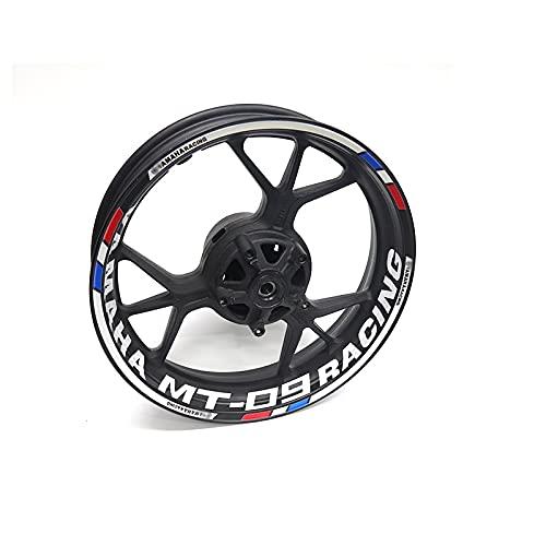LDGF Pegatina para rueda de motocicleta con borde reflectante para Y-amaha MT-09 MT09 Tracer (color: 26)