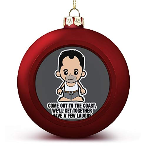 VNFDAS LIL Die Hard John McClane Come Out to The Coast Custom Christmas ball ornaments Beautifully decorated Christmas ball gadgets Perfect hanging ball for holiday wedding party decoration