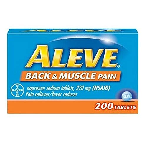 Aleve Aleve aleve Back & Muscle Pain Tablets 200 Count, 200 Count