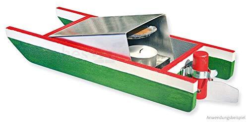 matches21 Knatterboot Boot mit Teelichtantrieb / Pulsarantrieb als Bausatz f. Kinder Werkset Bastelset ab 12 Jahren
