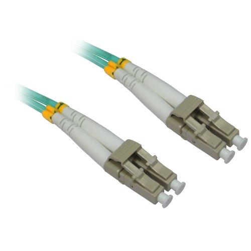 CDL Micro 5m 17ft LC-LC 50/125mm–Cable de Fibra óptica OM3, Azul Azul