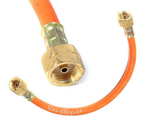 Propan 1,5 m HD-Gasschlauch Umfüllschlauch Verbindungsschlauch Gasflasche ( Verbinder, Propan HD-Gasschlauch Füll Propan Schlauch für T-Stück Anschluss Propangasflasche 150 cm)