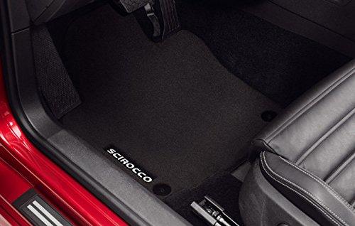 Original Volkswagen Premium Velours Fußmatten VW Scirocco schwarz 2-teilig vorn 1K1061275PSWGK