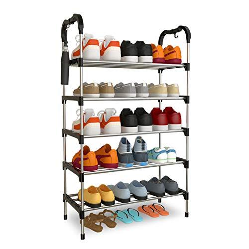 MAATCHH Estante de Zapatos Almacenamiento de Zapatos apilables de Entrada, Organizador de Marco de Metal Simple y Duradero y Duradero 5 LIRSET Organizador para la Sala de Estar de Dormitorio
