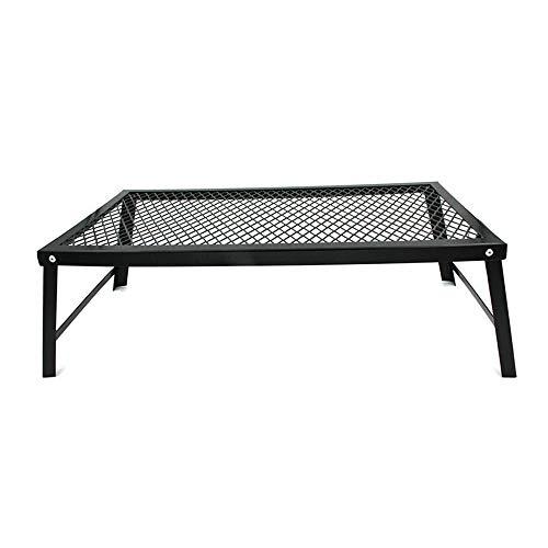 JINKEBIN Mesa plegable plegable pequeña mesa plegable ligera mesa mesa mesa mesa ideal para viajes camping y barbacoa negra para camping o jardín (color negro, tamaño: 55 x 30 x 18 cm)