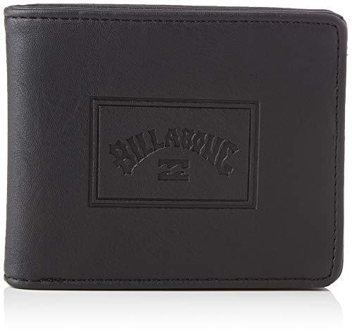 BILLABONG Archin for Men, Travel Accessory-Bi-Fold Wallet, (Negro ), One Size