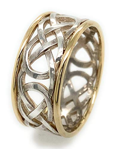 Lady Celtic Knot Ring in Silver and Gold Made in Ireland