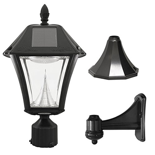 Gama Sonic GS-105FPW-BW Baytown II, Outdoor Solar Light and 3
