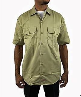 ディッキーズ 半袖 ワークシャツ Dickes カーキ メンズ 男女兼用 大きい ボタンダウン sb38