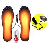 Queta Plantillas Térmicas USB Climatizada Plantillas, Suelas Calentables Calentadores de Pies, para Zapatos de Varios Tipos para Mujeres Hombres Invierno Caza Pesca Camping,Tamaño:40-44