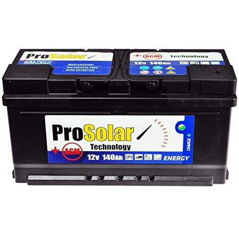 Batteria solare AGM 140 Ah USV 12 V ProSolar, non richiede manutenzione, 150 Ah 120 Ah GEL