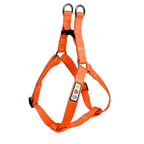 Pawtitas Haustier Verstellbares, solides, farbiges Welpen- / Hundegeschirr 1,8 m zum Hineinschlüpfen Extraklein Orange - Zusammenpassendes Halsband und Geschirr separat erwerbbar